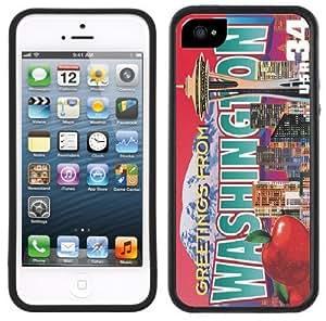 Washington Postcard Handmade iPhone 5 5S Black Bumper Plastic Case
