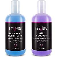 """Mylee""""Prep + Wipe"""" Gel-Nagellackreiniger und Reinigungsmittel für UV/LED-Maniküreazeton 250ml"""