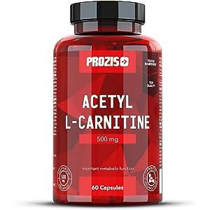 Prozis 100% Acetyl L-Carnitine Capsules 500mg: Suplemento de aminoácidos de alta calidad para perder peso y potenciar la capacidad mental y la energía.