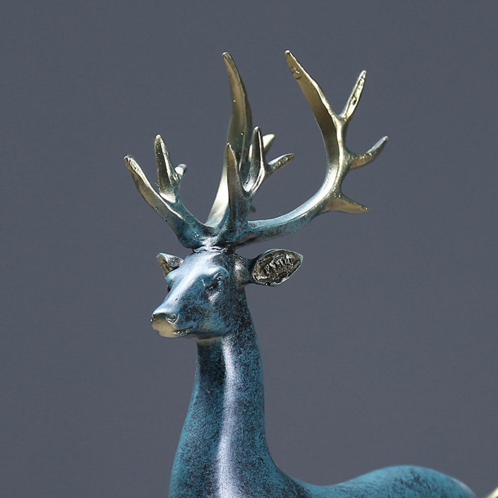 Two 2 Huge 100% Solid Polished Silver Colored Deer Candle Holder Statues Nice! Moderate Price