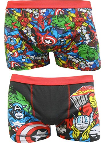Marvel Comics Men's Boxer Shorts Two Pack -L