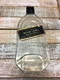 Landfilldzine Johnnie Walker Black Label Whiskey Handmade Melted Bottle Serving Tray - Great one of Kind