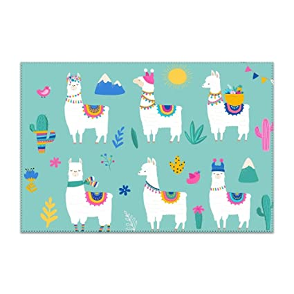 Stupendous Amazon Com Floom Placemats For Dining Table Hola Llama Download Free Architecture Designs Scobabritishbridgeorg