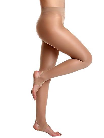 AMORETU Collants Femmes Collant De Danse Étrier Transparent Mince Leggings  30 Deniers Beige  Amazon.fr  Vêtements et accessoires 57fee679df0f