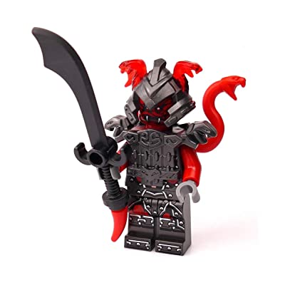 LEGO Ninjago Minifigure - Vermillion Warrior Limited Edition Foil Pack (with Sword and Snake Helmet): Toys & Games