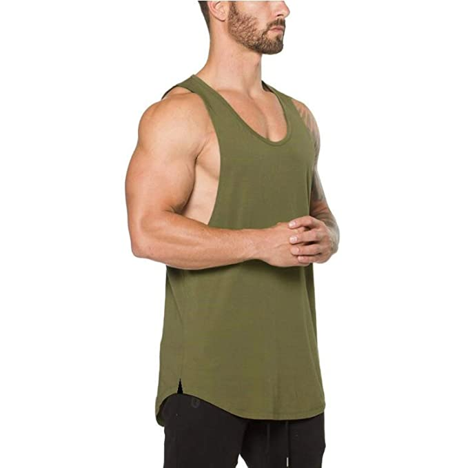 d05366eaaeac44 Bodybuilding Stringer Tank top Men Fitness Shirt Muscle Guys Sleeveless  Vest