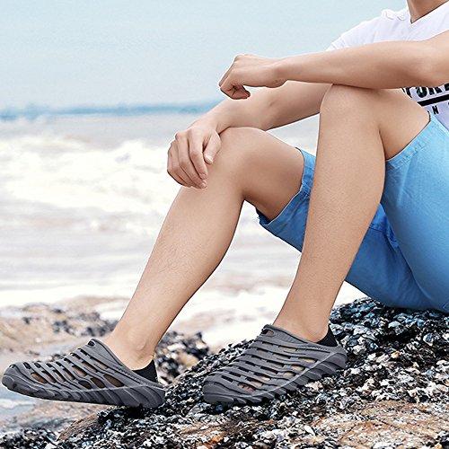 da Scarpe acqua Scarpe giardino da Sandali spiaggia Gray comode uomo da casual da H8fxEwq1