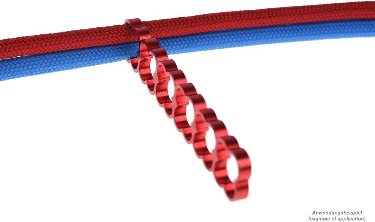 2 pcs Modding Eiskamm Alphacool 24784 Eiskamm Alu X24-4mm red