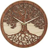 Tree of Life Wooden Clock