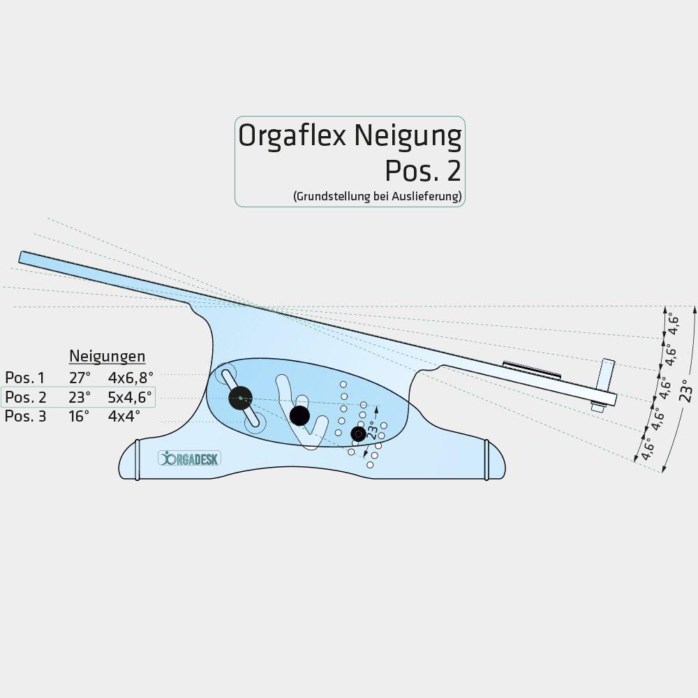 Flexibel Einstellbar Orgadesk Flex T 55 x 11,6 x 30,5 cm Langlebiges Plexiglas LxHxT 1 St/ück Klar Hochwertiger Ergonomischer Dokumentenhalter