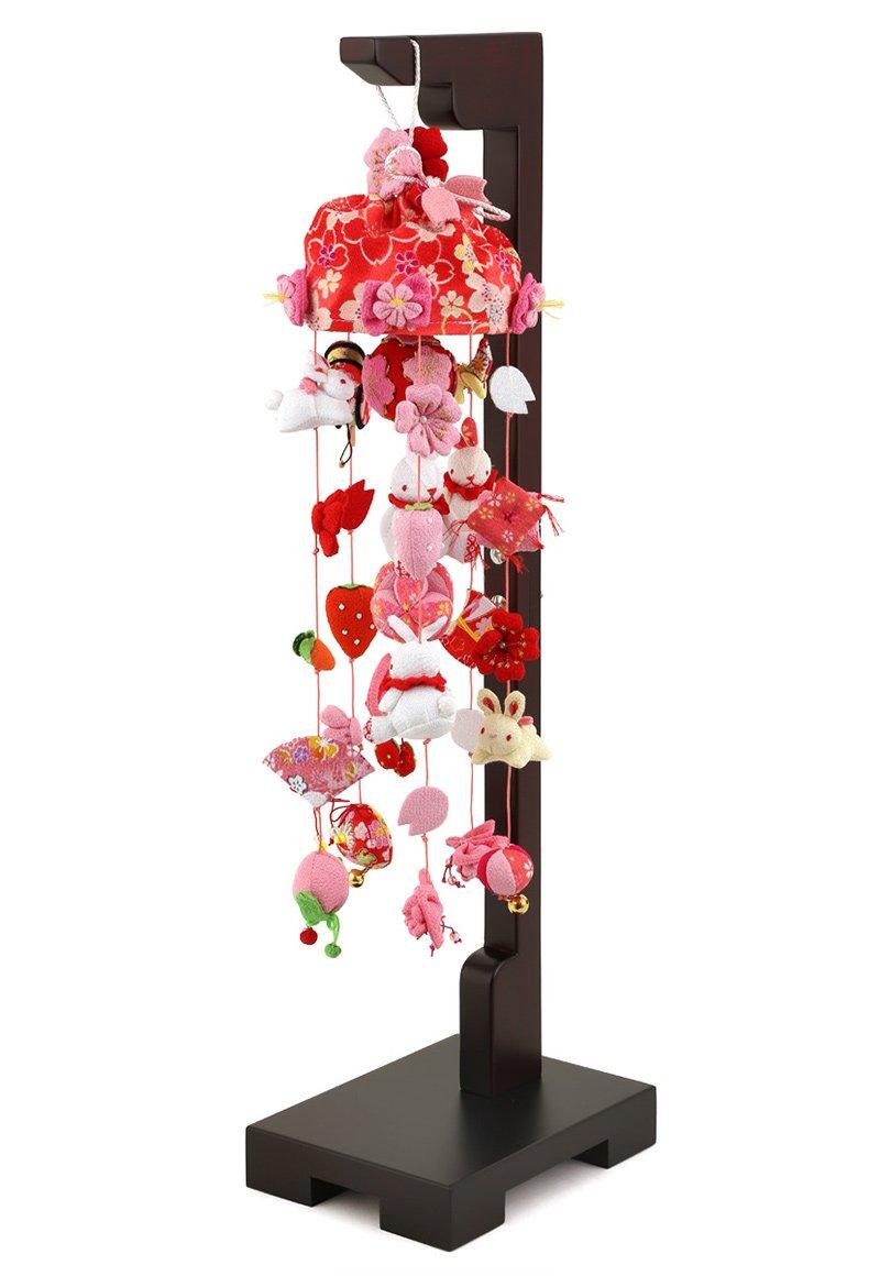つるし雛 つるし飾り 雛人形 コンパクト 山陽美工 桜うさぎ 小 台付 h273-sb-tr-r002s   B00RYNG6WW