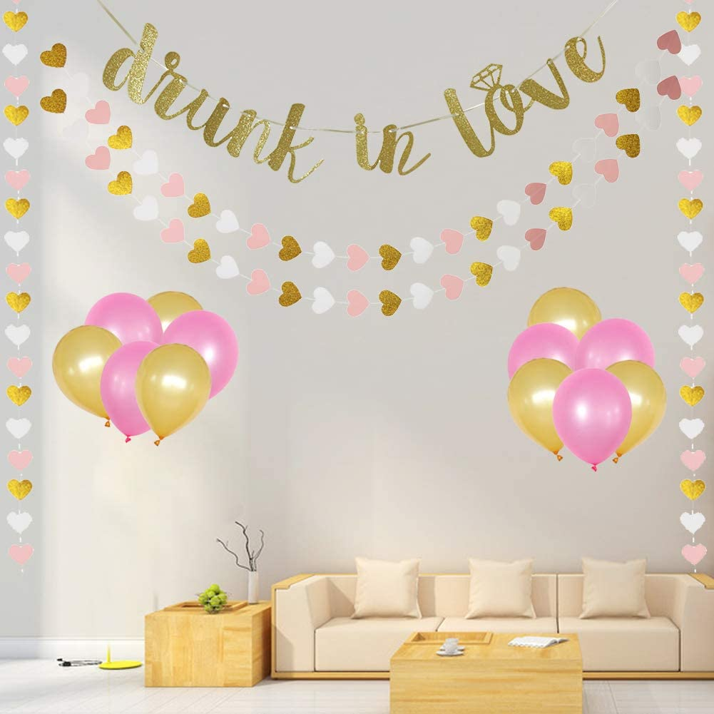 Glitter  Banner Garland Wedding Shower Hen Party Hanging Decor