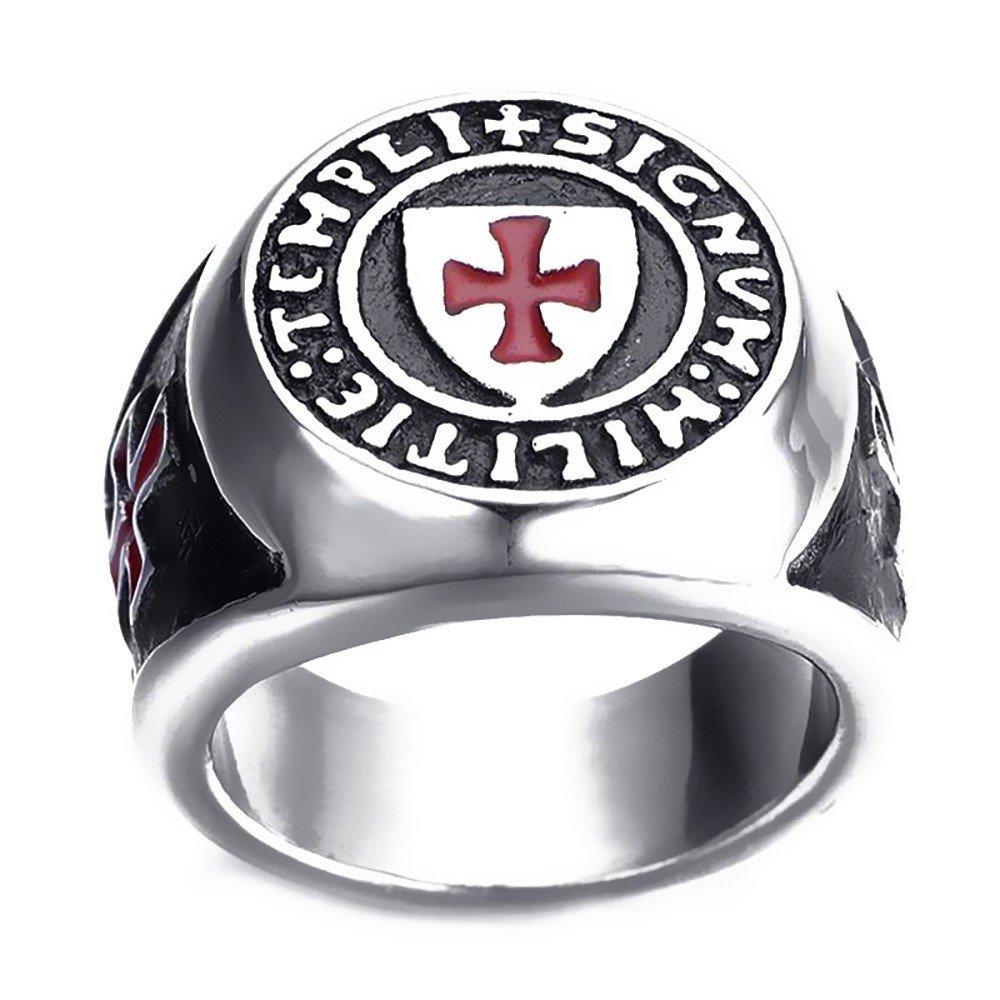 Bague Chevali/ère Ordre Pauvres Soldats du Christ Templier Templi Signum Militi BOBIJOO Jewelry