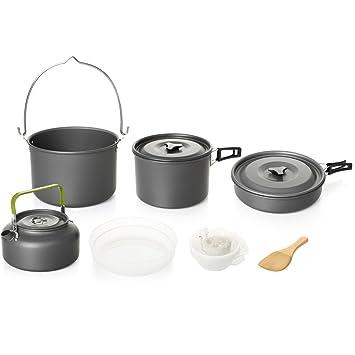 Asvert Cocinas para Camping de Ollas y Utensilios Portátil ...