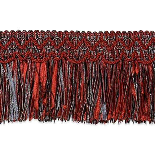 Expo International Red Cut Ribbon Fringe Trim, 20 yd, Multicolor ()