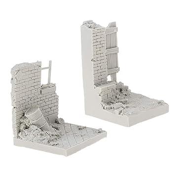 B Blesiya 1/35 DIY Miniatura de Arena Mesa Escena Kits de Construcción Modelo: Amazon.es: Juguetes y juegos