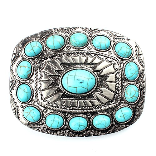 Turquoise belt buckle western buckles for ladies ()