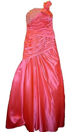 Sale 80% Off Amanda Wyatt DQ 2165 Neon Pink Satin Prom Dress rrp£325