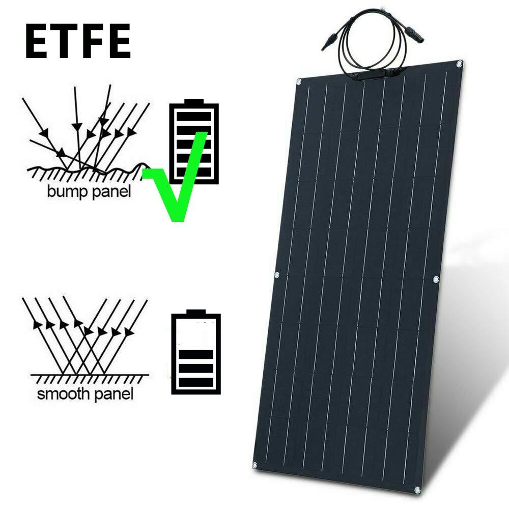 ECO-WORTHY Caricabatterie a pannello solare monocristallino flessibile 12 V 120 W per camper e altro ancora