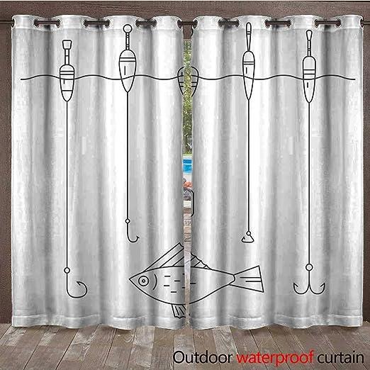 Nautical Decor - Cortina de Ventana de tamaño Queen con Grabado de ilustración de un Pulpo, Arte monocromático de Criatura Marina W108 x L96: Amazon.es: Jardín