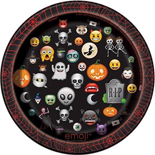 Emoji Halloween Dessert Plates, 8ct -