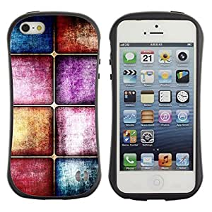 LASTONE PHONE CASE / Suave Silicona Caso Carcasa de Caucho Funda para Apple Iphone 5 / 5S / Tiles Glass Floor Purple Pastel Blue Texture Stone