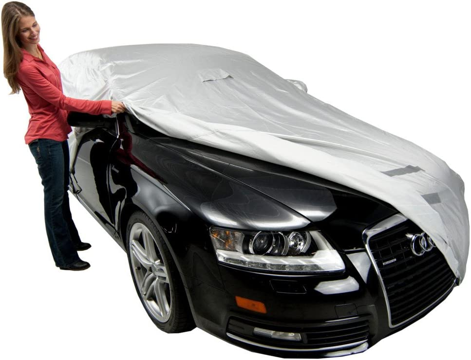 FS17383F5 Black Fleeced Satin Covercraft Custom Fit Car Cover for Select Volvo S60 Models