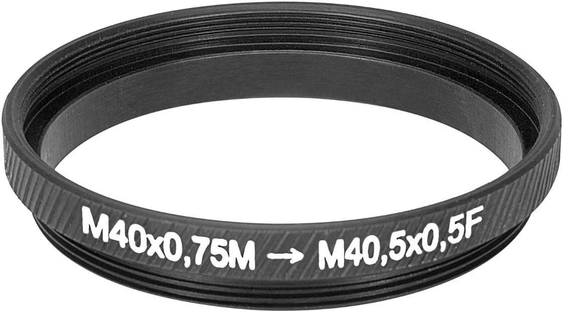 M40x0.75 Male to m40.5x0.5 Female Thread Adapter 40mm to 40.5mm Step-up Ring