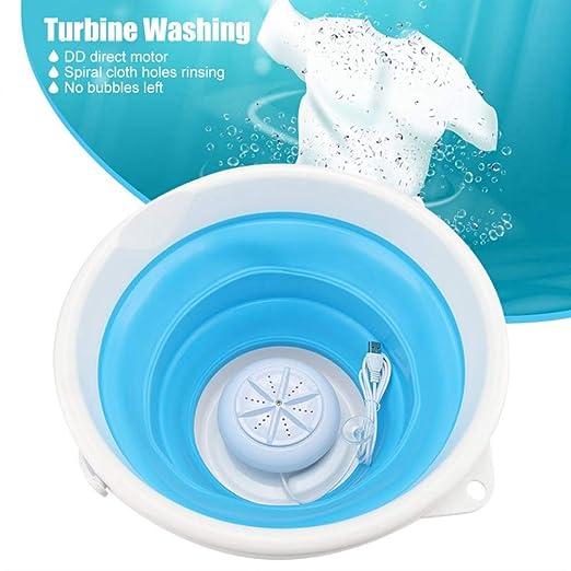 JJIIEE Plegable Mini máquina de Lavar, portátil Turbo sónica ...