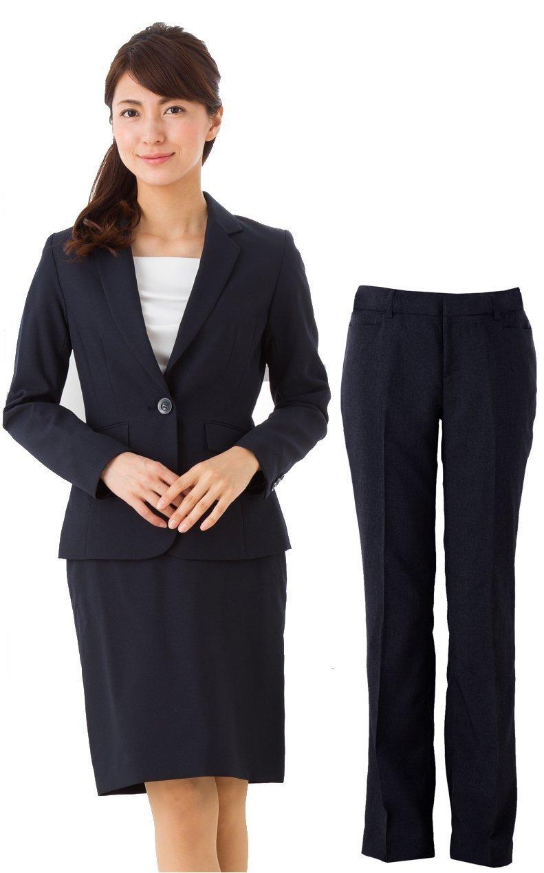 (アッドルージュ) スーツ レディース 3点セット タイトスカート パンツ ジャケット 洗える 洗濯 消臭抗菌【j5001-5002】 B00R4EP5XW 7号|【A/1つボタン】ネイビー 【A/1つボタン】ネイビー 7号