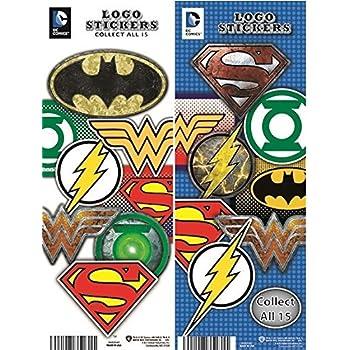 amazon com dc comics justice league logo stickers series 2 set