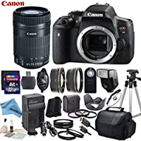 Canon EOS T6i Digital SLR Camera Body Bundle with EF-S 55-250mm f/4-5.6 IS STM Lens & eDigitalUSA Premium Kit - International Version