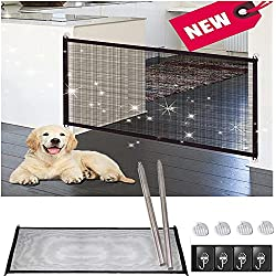 Romantic Cottage Magic Gate for Dogs-Baby Gate Portable Folding Mesh Screen Safe Enclosure Easy Install Anywhere (Baby Safety Fence,Pet Safety Enclosure) -Magic Gate As Seen On TV