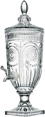 Juice dispenser Dispensador de Zumo Mesurn multifunción, Botella de Vino de Vidrio, Postre de Bebida, Cilindro de Bebida de Zumo con Botella de Vino líder de autoservicio Barril de Bebidas: Amazon.es: Hogar