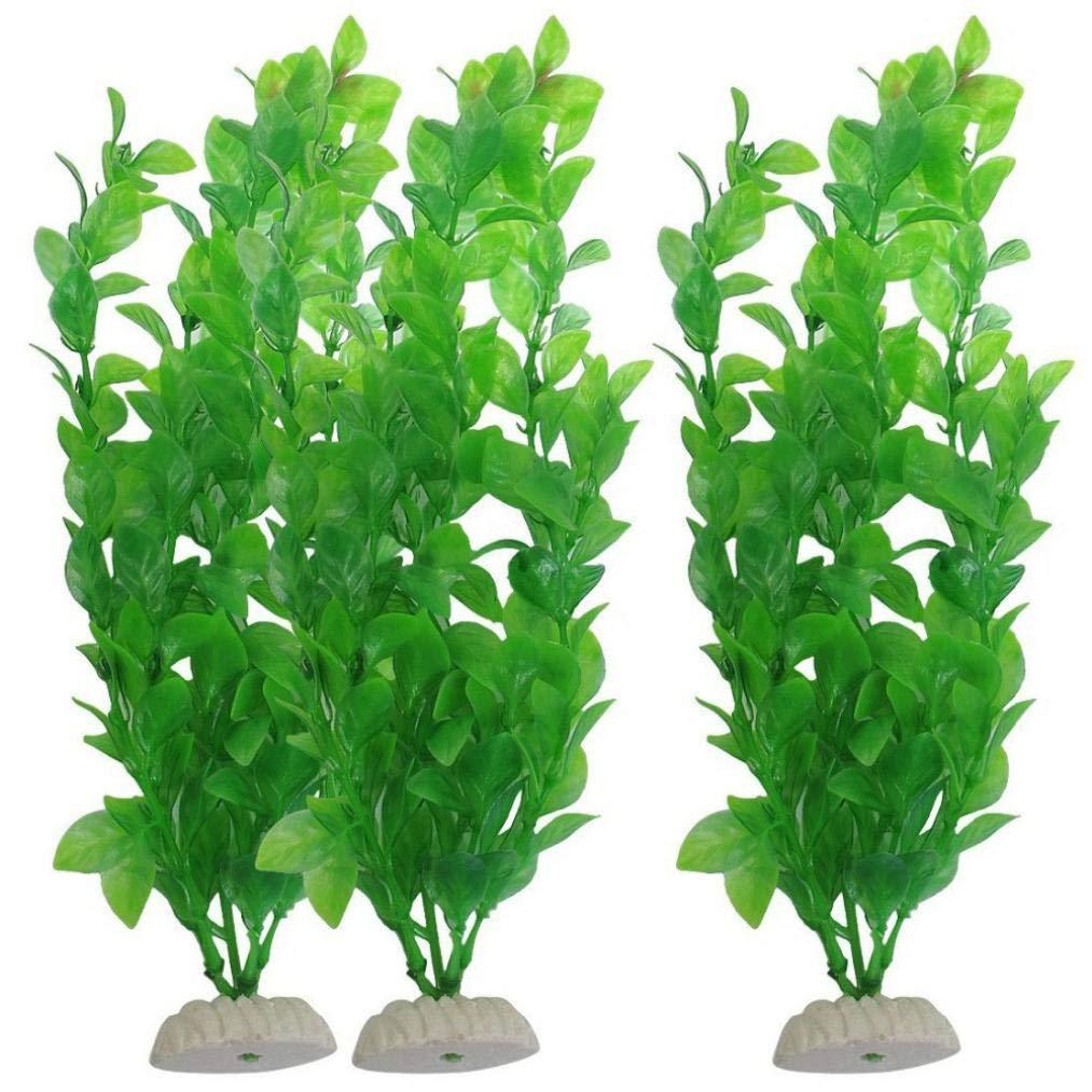 Bookear Water Plants for Fish Tank Aquarium Decor Ornament Decoration Plastic Submarine (Green)