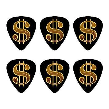 Gitarren Plektren Mit Dollar Zeichen Motiv Mittlere Stärke 6 Stück