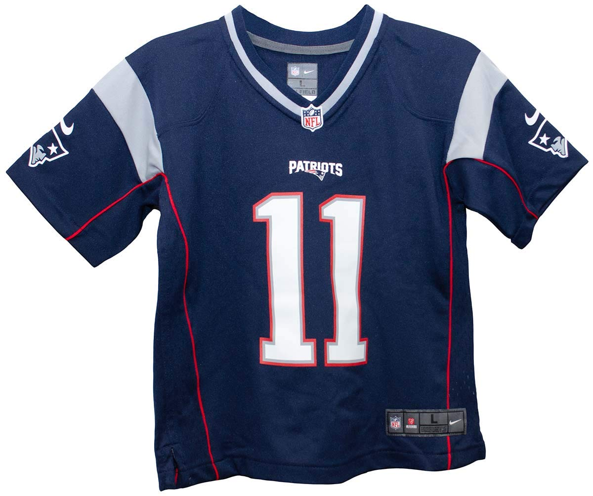 Amazon.com   Nike Julian Edelman New England Patriots Team Color Preschool  Game Jersey (Small 4)   Sports   Outdoors 03f1ee7191