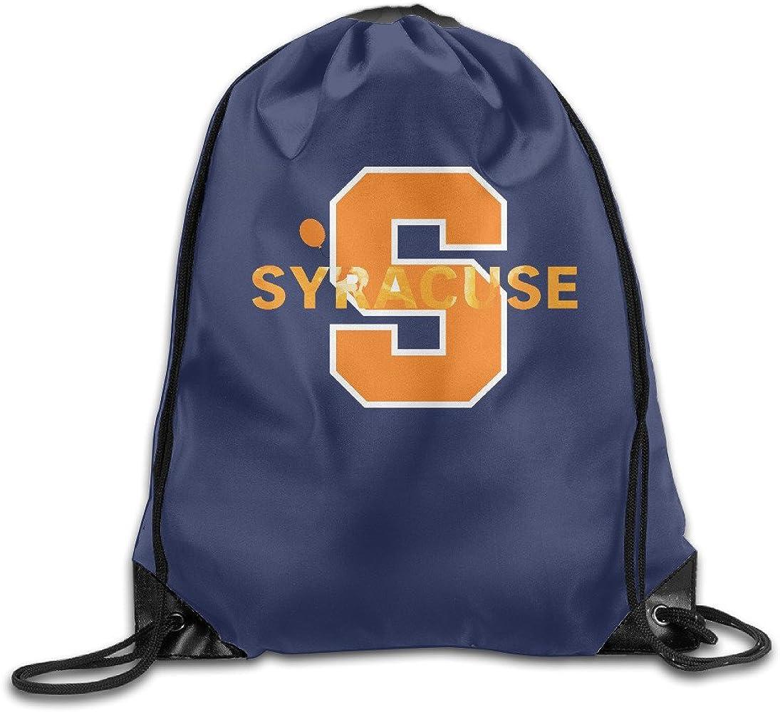 SAXON13 Unisex Lovely Syracuse Orange Drawstring Bag