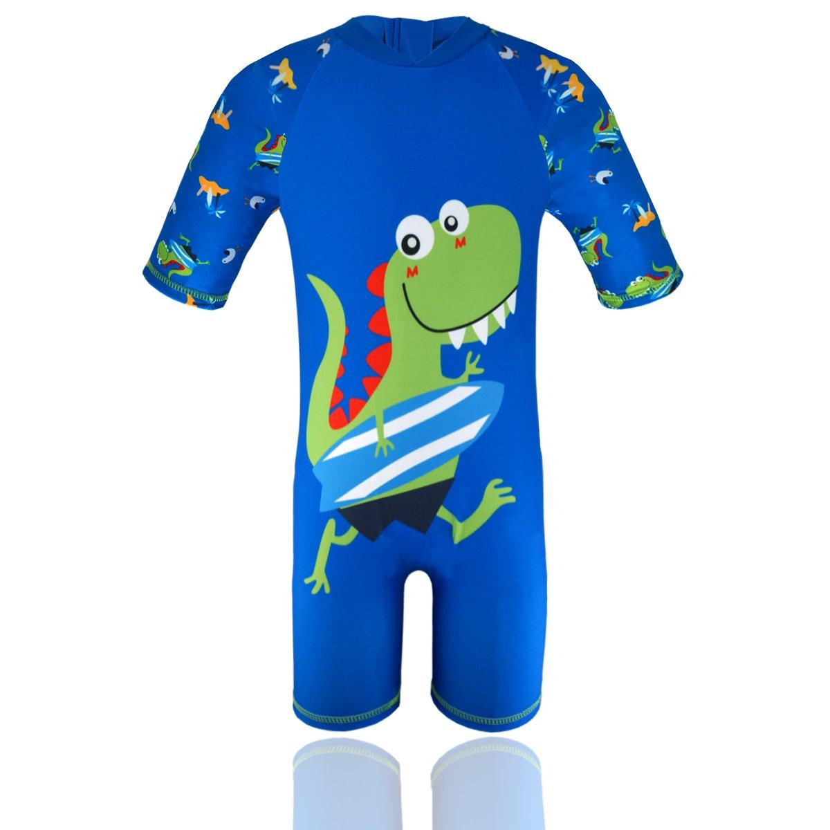HONISEN Boys One Piece Rash Guard Swimsuits Kids Sunsuit Swimwear UPF 50+