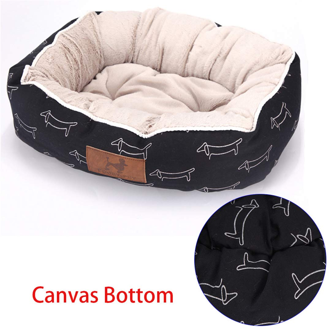 Black Dog M 55x45x16cm Black Dog M 55x45x16cm Pets for Puppies Pet Bed for Animals Dog Beds for Large Dogs Cat House Dog Bed Mat Cat Sofa