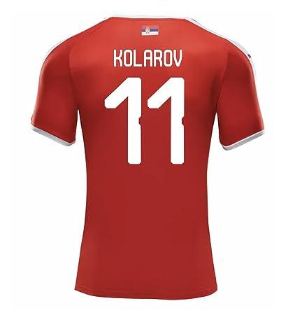 b4f222e1d Amazon.com   PUMA KOLAROV  11 Serbia Men s Home Jersey World Cup ...