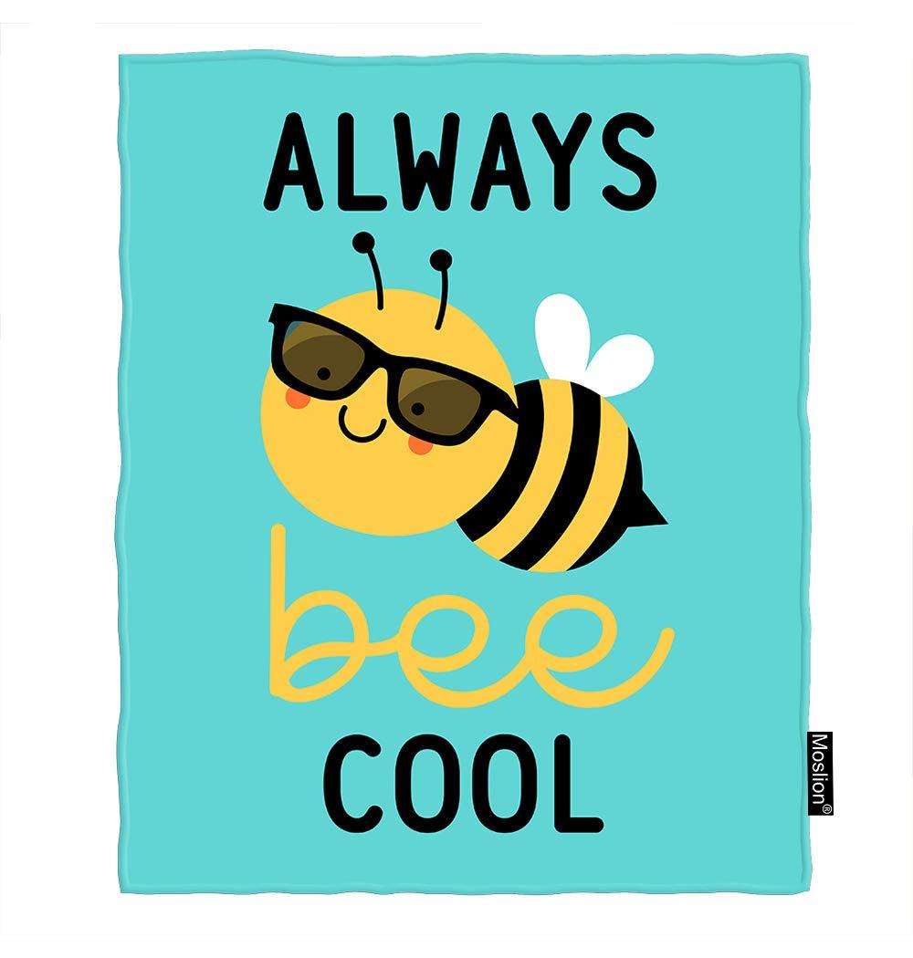 Amazon.com: Moslion Bee Manta lindo dibujos animados miel ...