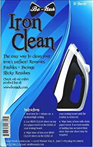 Bo-nash Iron Clean Sheets for Removing Fusibles & Sticky Residues (10 Sheets)
