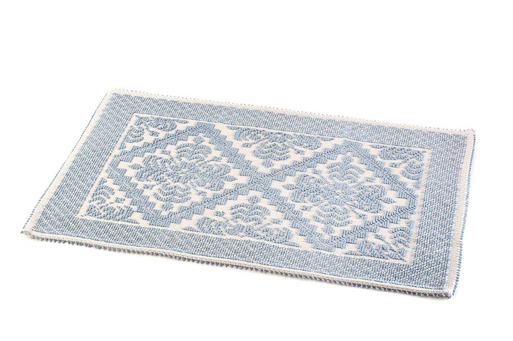 Boutiques Du Monde Alghero New Tappeto, 100% Cotone, Azzurro, 50 x 80 cm, 08608258