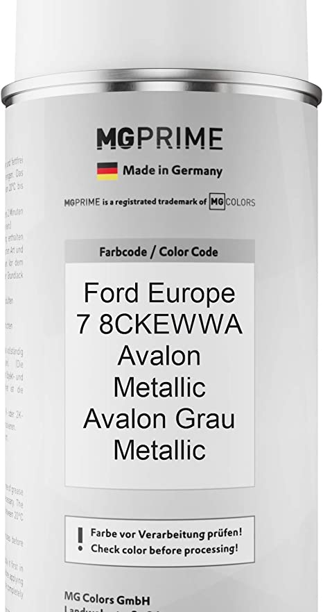 Mg Prime Autolack Sprühdosen Set Für Ford Europe 7 8ckewwa Avalon Metallic Avalon Grau Metallic Basislack Klarlack Spraydose 400ml Auto