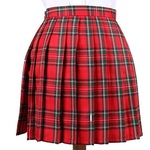 QZBTU Faldas Mujer Faldas para Mujer Falda Plisada Falda A Cuadros ...