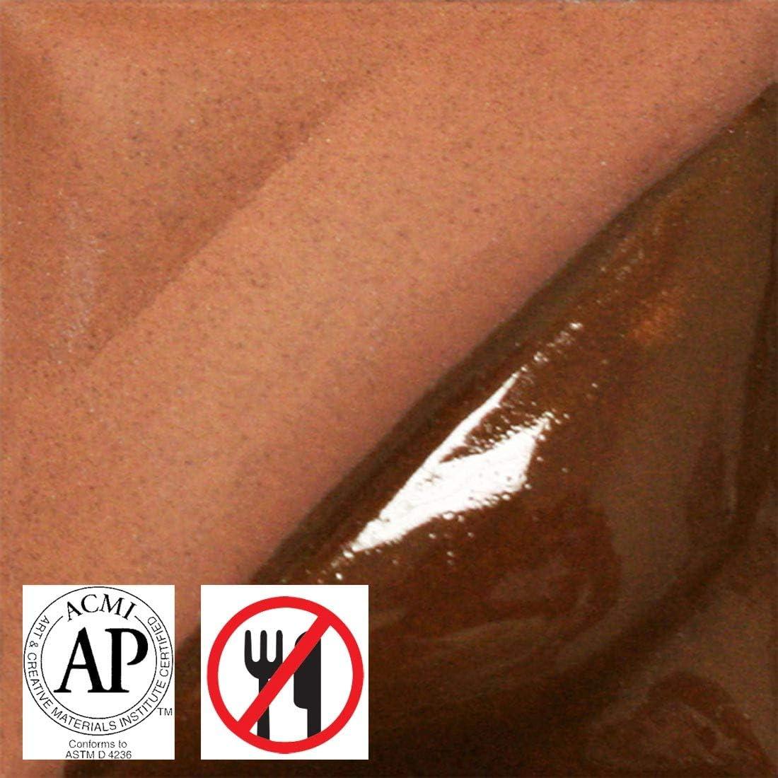 Terra Cotta V-303 1 Pint AMACO Velvet Lead-Free Non-Toxic Semi-Translucent Underglaze
