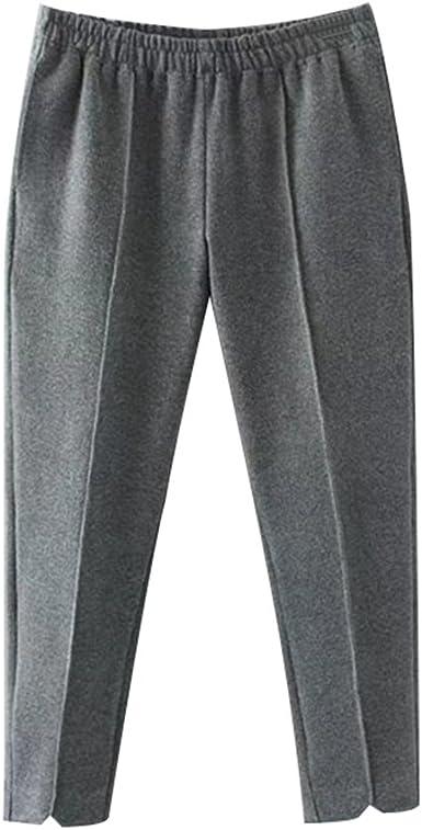 Niseng Mujer Cintura Elastica Pantalones De Pana Invierno Casual Pantalones De Lana Harlan Pantalones Gris 5xl Amazon Es Ropa Y Accesorios