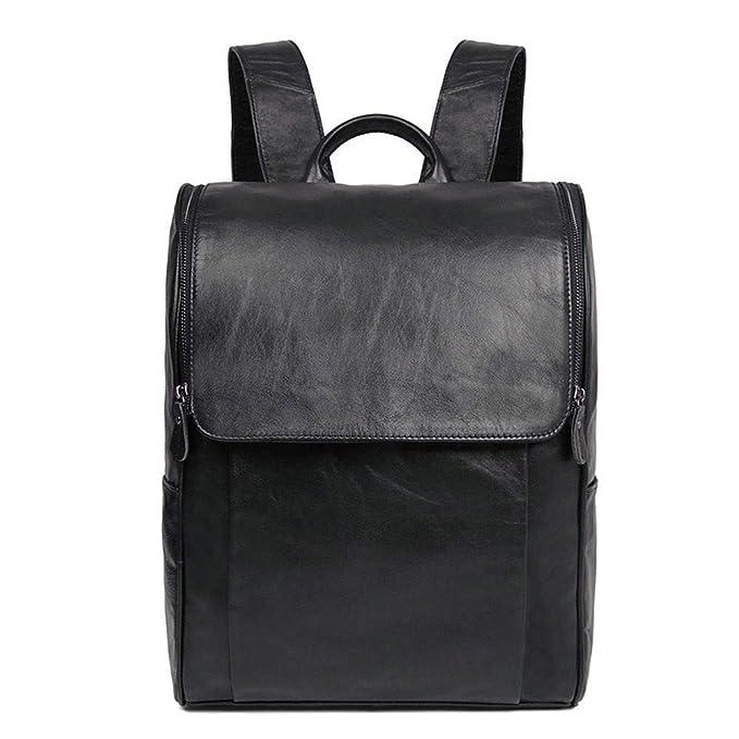 Circlefly Europa y el aceite de la moda retro de Estados simples hombres cera cuero impermeable de cuero mochila comfort: Amazon.es: Hogar