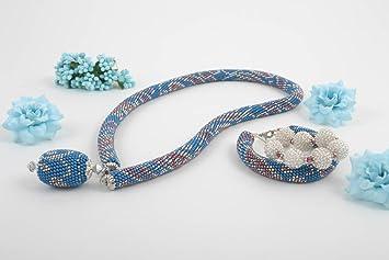 54d7d72f23d1 Set de bisuteria artesanal pulsera artesanal de abalorios collar de moda  India  Amazon.es  Hogar